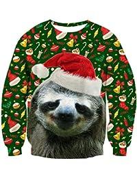 Unisex Funny Print Ugly Christmas Sweater Crewneck Sweatshirt Various Design