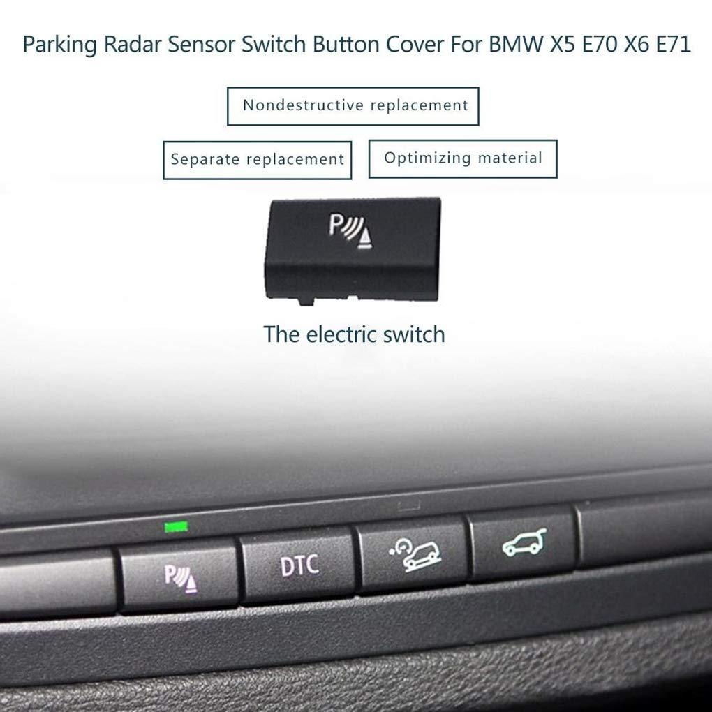 Ben-gi Sensori di parcheggio Button Switch Sostituzione della Copertura per Il BMW X5 E70 06-13 X6 E71 08-14 61.319.414,02 Mila