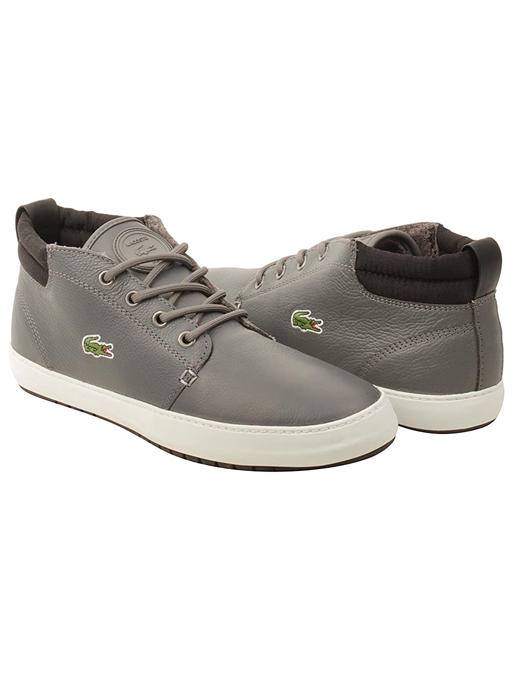 43ddac464 Lacoste Mens Ampthill Terra Twd2 Sneakers in Grey Black 8.5 (Adult)   Amazon.co.uk  Shoes   Bags