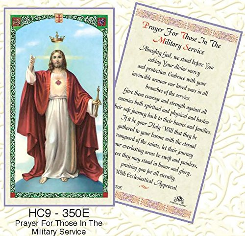 Service Prayer Card - Those in Military Service Paper Prayer Cards - Pack of 100 - HC9-350E-L