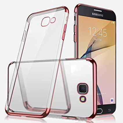 new product a2b72 650be Galaxy J7 Prime Case, Galaxy J7 Prime Clear Case,ikasus Ultra-thin Crystal  Clear Shock Absorption Plating Transparent Bumper Silicone Gel Rubber Soft  ...