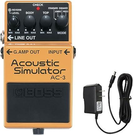 BOSS Pedal AC-3 acústica simulador con el PigHog PP9V PigPower 9V ...