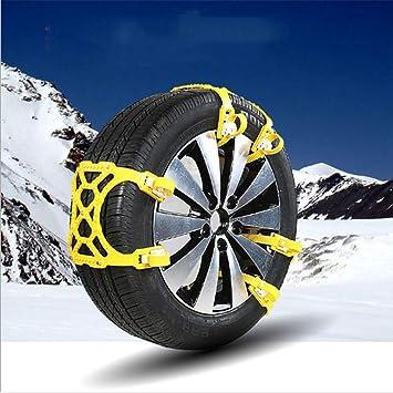 Ruedas de seguridad de la rueda de coche universal neumático cadena de protección anti-Skid cadenas de emergencia cinturón de seguridad para invierno ...