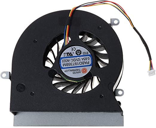 ZChun - Ventilador de CPU para MSI 16L1 16L2 GT62 GT62VR 6RD 6RE 7RE PABD19735BM N322 DC 12V 0.65A 4PIN: Amazon.es: Hogar