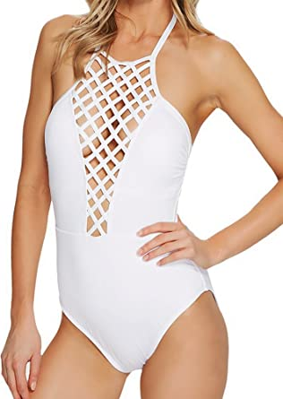 6ec20fb15c Image Unavailable. Image not available for. Color  Kenneth Cole REACTION  One Piece High Neck Swimsuit ...