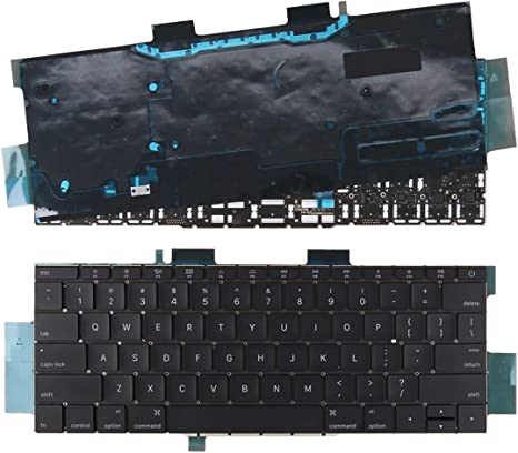Laptop Replacement Keyboard Without Backlit for Apple MacBook Pro 13.3 Inch A1708 US Layout(Black)
