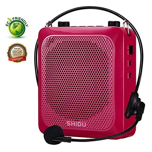 Voice AmplifierSHIDU Personal Throat Mic Voice Amplifier with Wired Microphone Headset 30W Portable Rechargeable Sound System Speaker for TeachersTour GuidesSingingYogaOutdoor Trainers [並行輸入品]   B07CRXHT9B