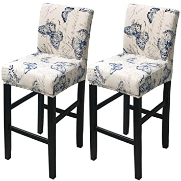 Cool Deisy Dee Stretch Slipcovers Chair Cover For Counter Height Side Chairs Covers Stretch Protectors Pack Of 2 C172 Yy Gmtry Best Dining Table And Chair Ideas Images Gmtryco