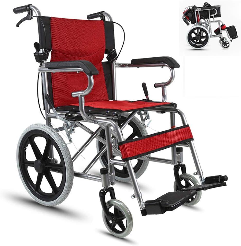 SDLYKX Silla de Ruedas Autopropulsado,Dispositivo Móvil Plegable, Fácil de Transportar y Almacenar en Interiores, Apto para Personas Mayores y Discapacitadas