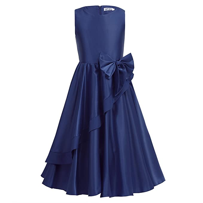 iEFiEL Vestido de Fiesta Ceremonia Boda para Niña Vestido Infantil de Bautizo Regalo de Navidad Azul