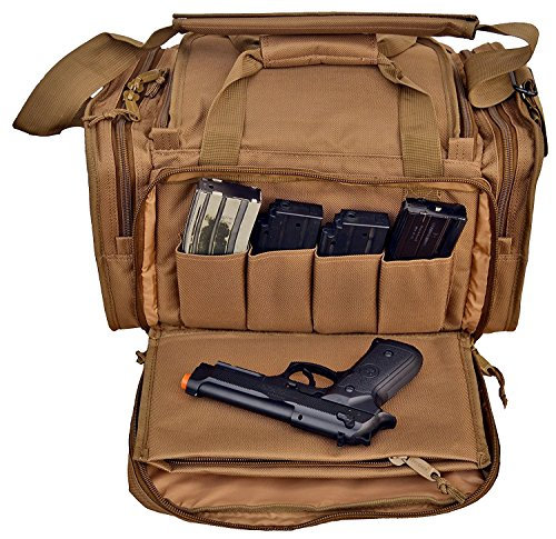 Explorer Large Padded Deluxe Tactical Range Bag - Rangemaster Gear Bag Tactical Assault Gear Sling Pack Range Bag Hiking Fanny Pack Waist Bag Shoulder Backpack EDC Camera Bag MOLLE Modular