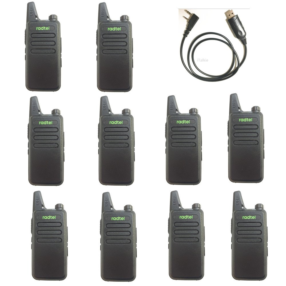 Radtel RT-10 Mini Two Way Radio UHF 400-470Mhz 3W Kid's Walkie Talkie , for Outdoor Camping Hiking Hunting Gift (10 Pack)