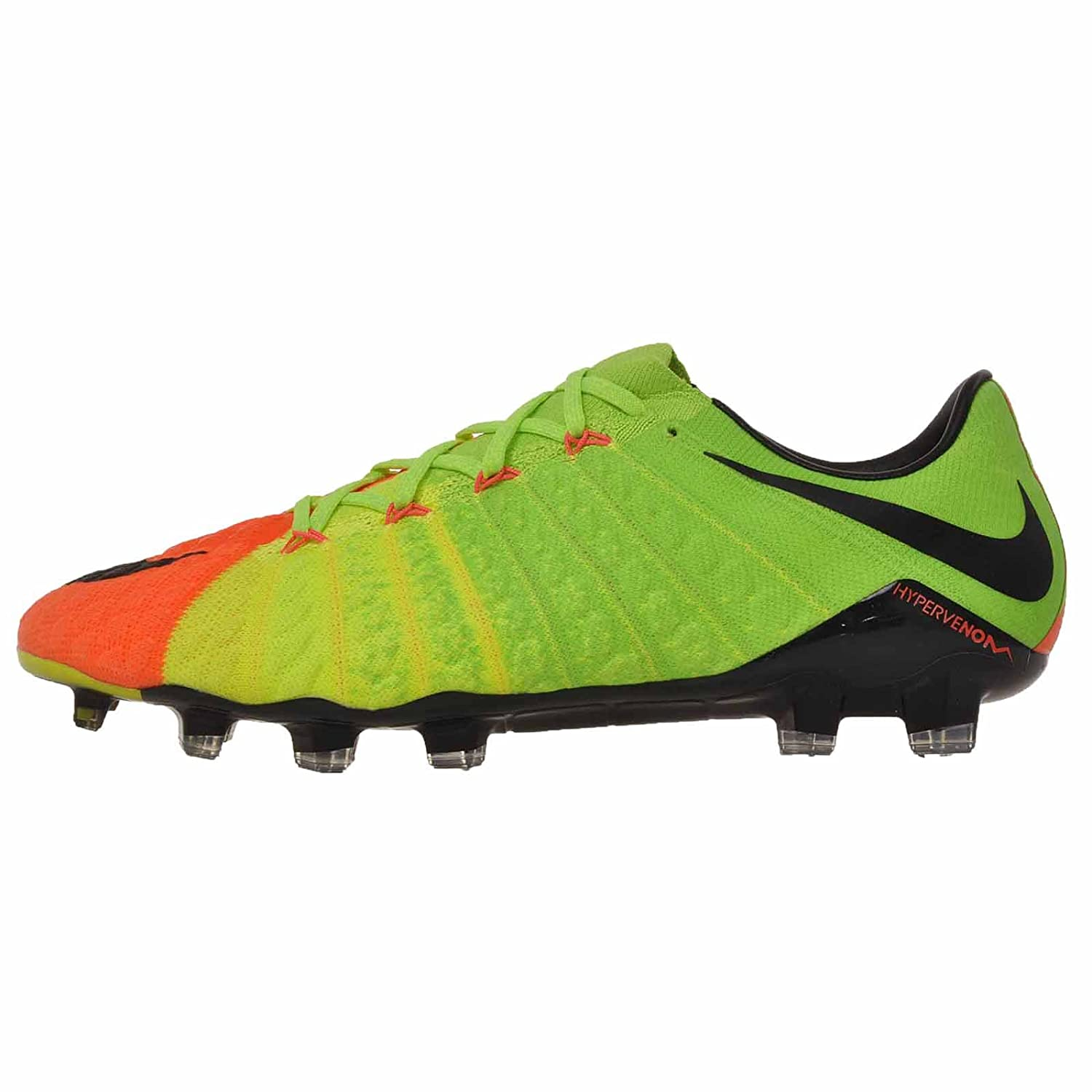 e9c9c5f45 Nike Men s Hypervenom Phantom III FG Electric Green Black Hyper Orange  Soccer Shoes