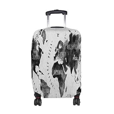 Amazon alaza gray world map compass luggage travel suitcase alaza gray world map compass luggage travel suitcase cover case protector gumiabroncs Image collections