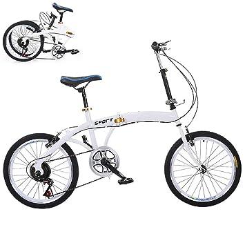 ZXCTTBD Compacto Bicicleta Plegable,20 Pulgadas de 6 Velocidades ...