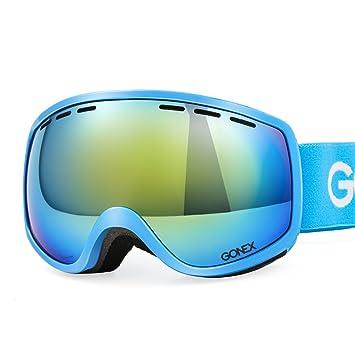 e36747ff27 Gonex Gafas de Esquí Protección UV Anti-Niebla con Lente Esférica Doble  Protección UV400 para