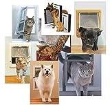 SAFETYON Interior Cat Door Cat Flap Door 4 - Way