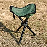 OUTAD Tripod Stool, Folding Portable Tri-Leg Stool for Outdoor Camping/Fishing/Hiking/Mountaineering(Weight1.76lb,Capacity 120KG)