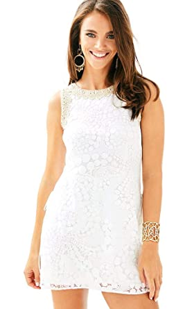 20291acc5e0 Amazon.com  Lilly Pulitzer Women s Resort White Mocean Lace Donna ...