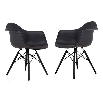 Brilliant Amazon Com Cozyblock Set Of 2 Eames Style Daw Scandinavian Cjindustries Chair Design For Home Cjindustriesco