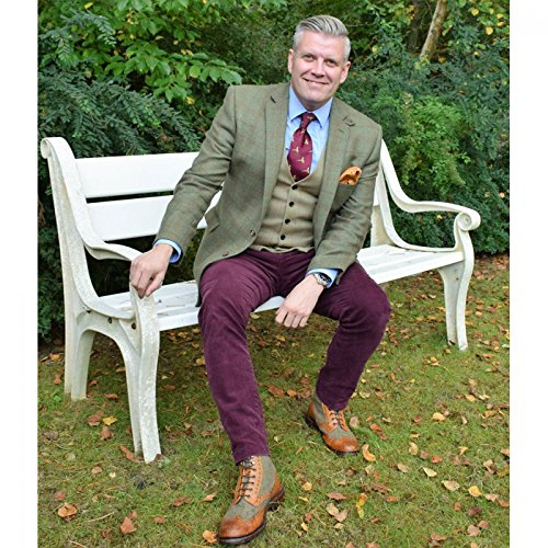 Herring Herring Exmoor, Stivali uomo Multicolore (Chestnut Tweed)