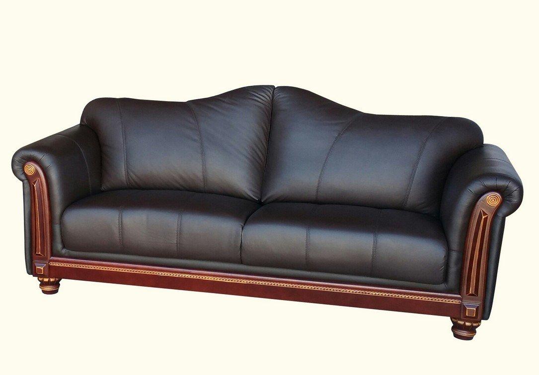 Designer Ledersofa Ledermöbel Leder Sofa 3 Sitzer Garnitur Couch 278