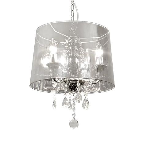 Markslojd Taxinge - Lámpara de techo con cristales colgantes ...