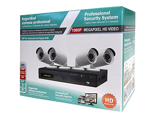 Amazon.com : US iTech 8-Channel DVR Professional Security Camera System CCTV with 8 Bullet HD Cameras - DVR Kit, H.264, 2MP, 1920x1080 with 1TB HDD : Camera ...