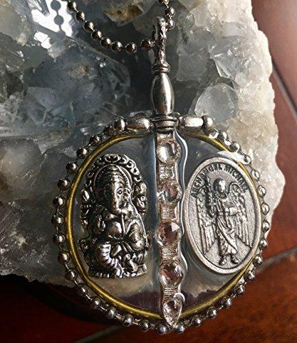 blockbuster-archangel-michael-and-ganesh-pendant