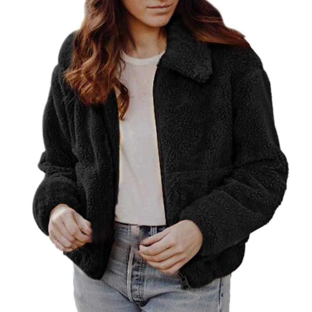Womens Winter Warm Coats Solid Spandex Parkas Oversize Overcoat Zipper Outwear Lightweight Ladies Jackets with Pockets