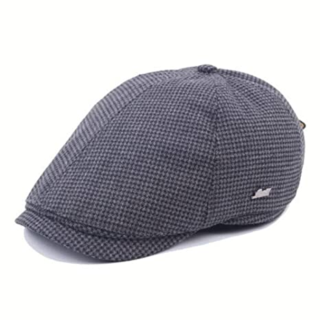 Dhm-womens hat Fashion Gorras de Boina de Rejilla de algodón for ...