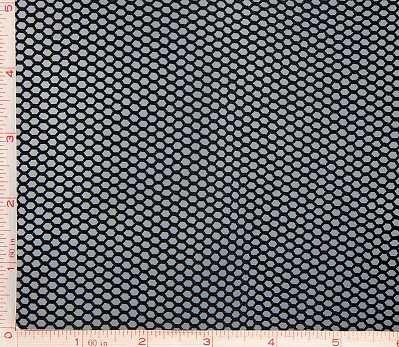 - Black Medium Hole Fishnet Fabric 4 Way Stretch Nylon 58-60