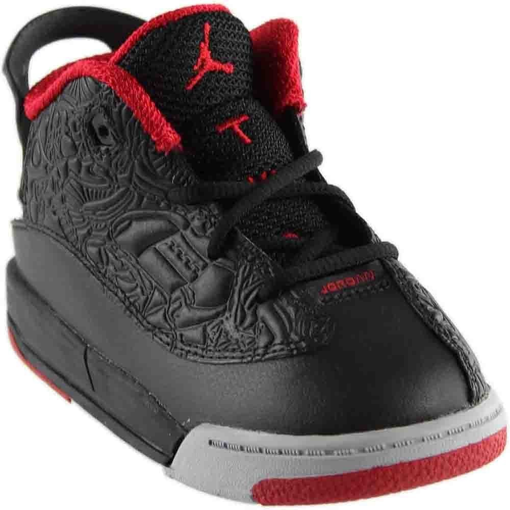 Nike 311072-013 Infants and Toddler Dub Zero BT Jordan Black Gym Red Wolf Grey, 4c
