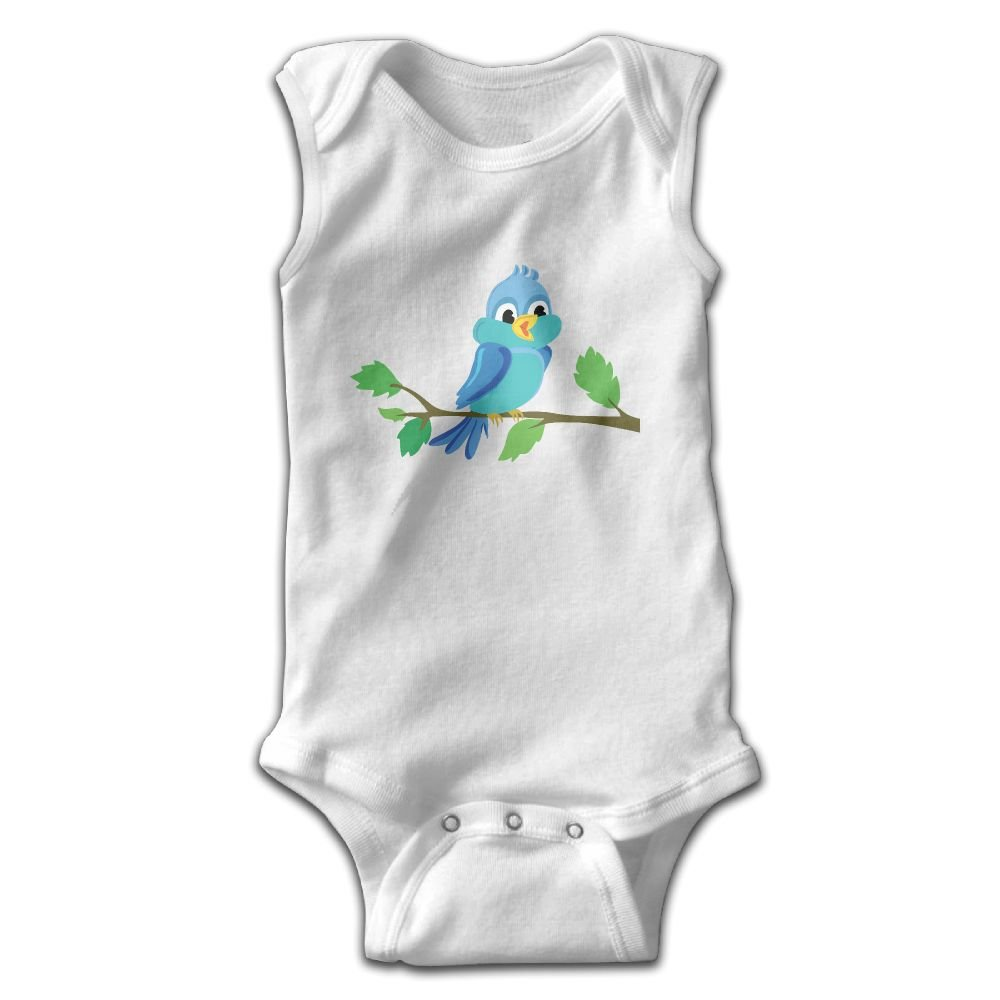 Crali Cute Birds Sleeveless Onesies Outfits