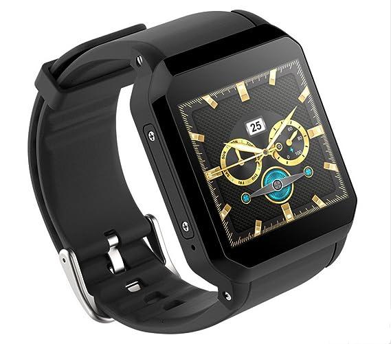 Reloj inteligente GPS para hombres KW06 Monitor de frecuencia cardíaca Reloj despertador Bluetooth Reloj de pulsera SIM Relojes deportivos para Android ...