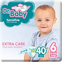 Dr.Baby Sensitive with Chamomile, Size 6, 15-30 kg, Value Pack, 40 Diapers