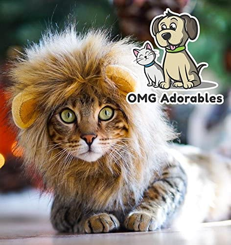 OMG Adorables Lion Mane Costume for Cat 22