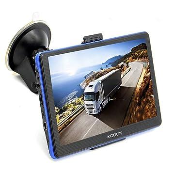 Xgody 886 - Sistema de navegación GPS para camión con Bluetooth para coche, pantalla táctil capacitiva de ...