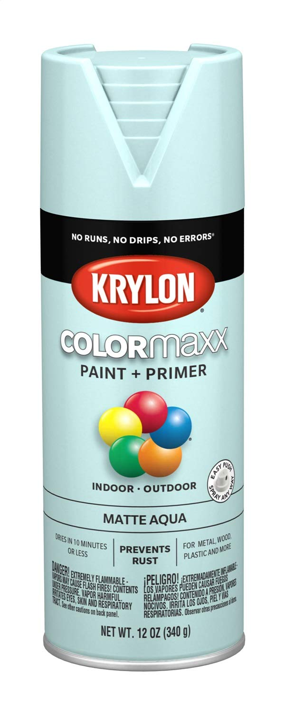 Krylon K05549007 COLORmaxx Spray Paint, Aerosol, Aqua