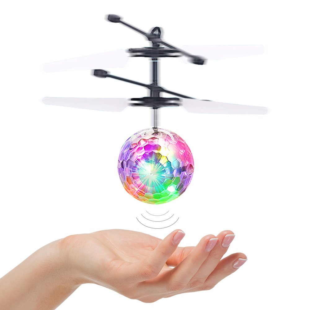 Fricon Fun Cool New Outdoor Toys for 3-15 Year Old Boys Girls, LED Lights Colorful Flying Ball Girls Toys Age 3-15 Christmas Xmas Gifts for Age 3-15 Stocking Stuffer Colorful KMUSQ06 by Fricon