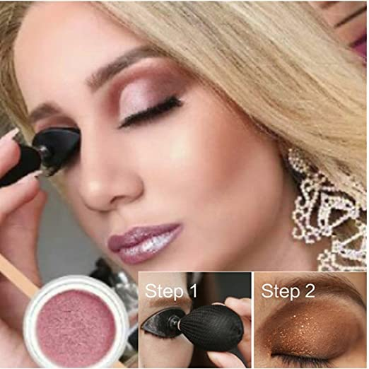 As Seen-On-TV, DOUMI 2019 Lazy Eye Shadow Applicator Silicon Eyeshadow Stamp Crease Popular (Black) best eye shadow stamps