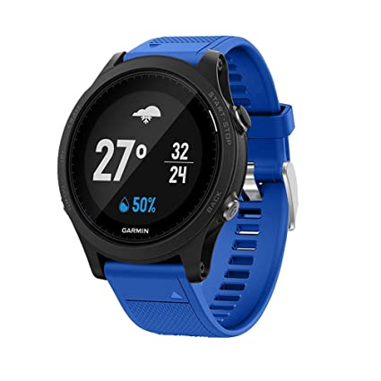 TopTen Garmin Forerunner 935 Correa de Reloj de Silicona, de Repuesto para Garmin Forerunner 935 GPS Smart Watch