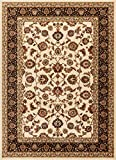 Well Woven Barclay Sarouk Ivory Traditional Area Rug 7'10' X 9'10'