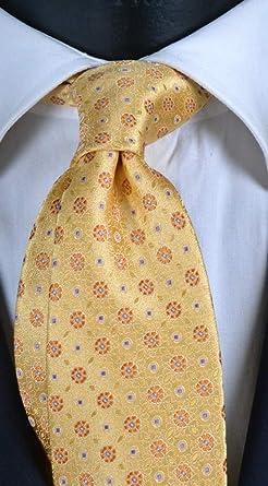 Corbata de hombre amarilla con efecto cambiante con micro ...