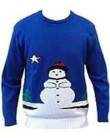 London Knitwear Gallery Christmas Novelty Retro Reindeer Snowman Jumper