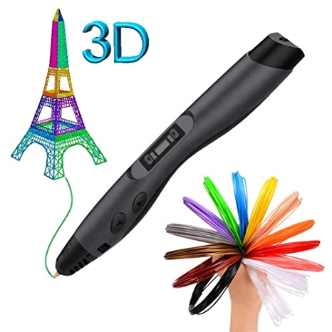 Art /& Model,Best for DIY Gift 3D Printing Pen with OLED Screen,Jiamus Intelligent 3D Printer Drawing Pen Compatible with 1.75mm PLA//ABS Filament,12 Feet in 120 Colors for Kids,Types for Crafting
