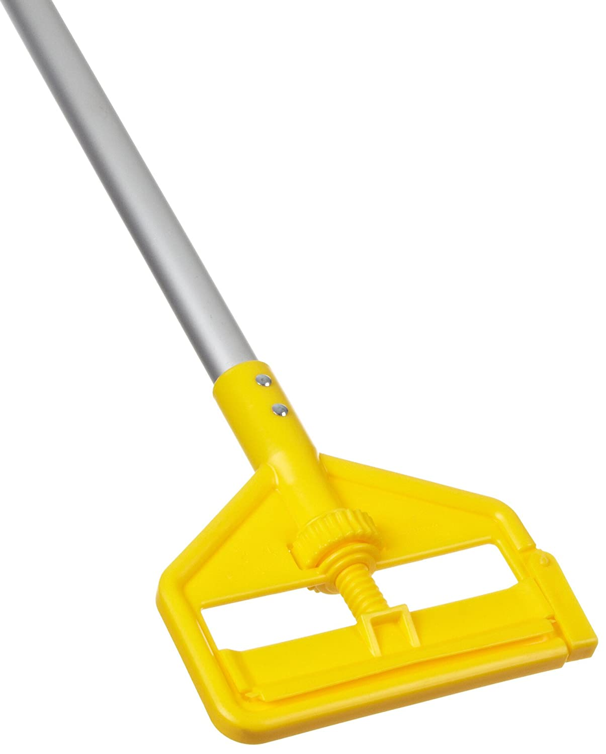 Rubbermaid Commercial Invader Side Gate Wet Mop Gray Aluminum Handle with Large Yellow Plastic Head, 54-Inch Length (FGH125000000) Rubbermaid Commercial Products