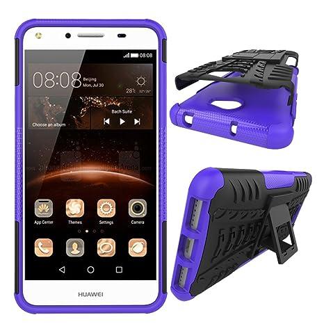 XINYUNEW Funda Huawei Y5 II 2016, 360 Grados Protective+Pantalla de Vidrio Templado Caso Carcasa Case Cover Skin móviles telefonía Carcasas Fundas ...