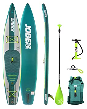Jobe Neva Inflatable Stand Up Paddle Board 126 x 30 Inc Paddle, Backpack