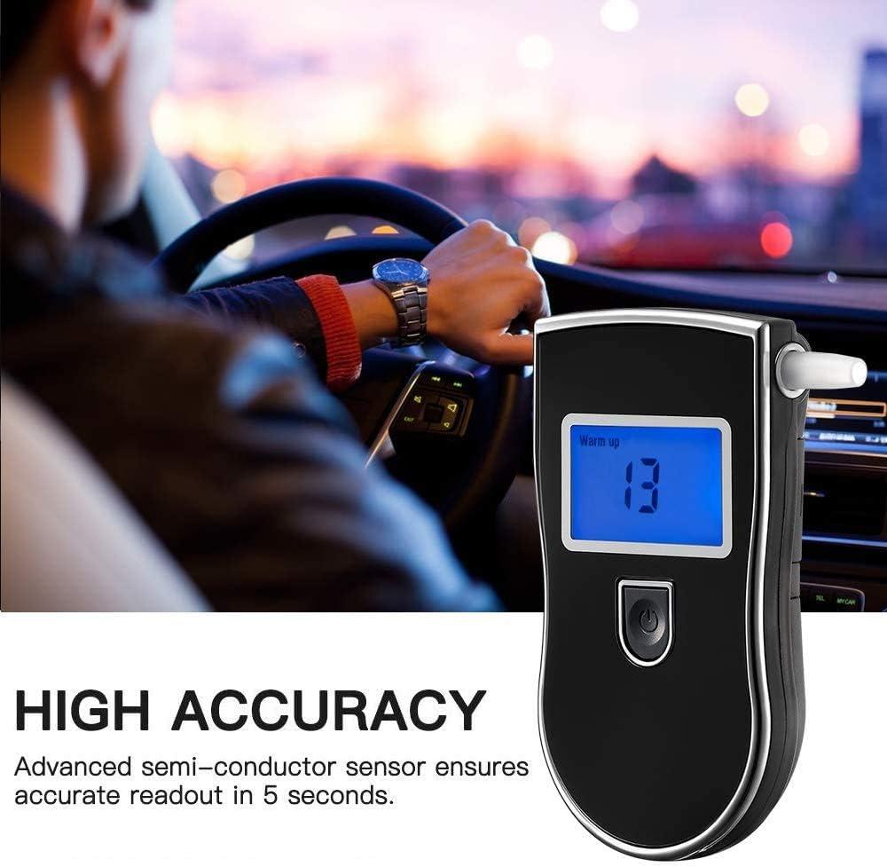 Hoonyer Alkoholtester Alkoholtester Polizeigenau mit Sensor /& Digitaler LCD Bildschirm Professioneller Promilletester Kommt mit 5 Mundst/ücke